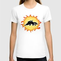 Amaterasu Logo- Black Womens Fitted Tee White SMALL
