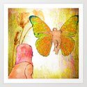 Shelsea and the Butterfly Man Art Print