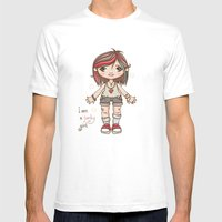 Funky girl Mens Fitted Tee White SMALL
