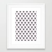 Polka Dog Framed Art Print
