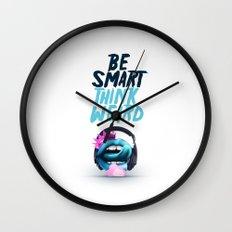 Be smart. Think weird II Wall Clock