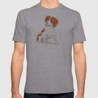Springer Spaniel Dog Mens Fitted Tee Athletic Grey SMALL