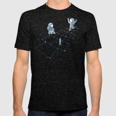 Hopscotch Astronauts Mens Fitted Tee Tri-Black SMALL