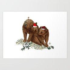 christmas bears Art Print