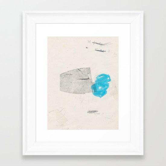 glue Framed Art Print