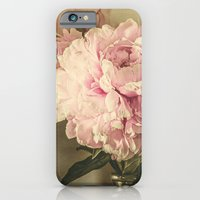 iPhone Cases featuring Painted Peonies -- Botanical Still Life by V. Sanderson / Chickens in the Trees