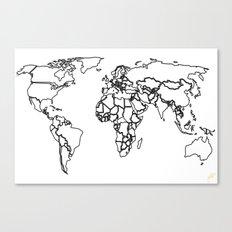 Sovereign Map Canvas Print