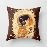 The Little Match Girl Throw Pillow