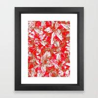 Lovely Leaf Pattern Framed Art Print