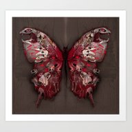 Gothic Butterfly Art Print
