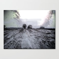 Wintry Night On The Farm Canvas Print