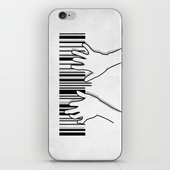 Barcode pianist iPhone & iPod Skin