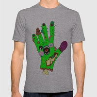 Zombie Hand Mens Fitted Tee Athletic Grey SMALL