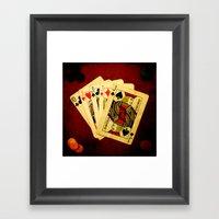 Poker De Jotas (Dirty Po… Framed Art Print