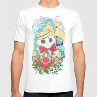 Sailor Kitty Mens Fitted Tee White SMALL