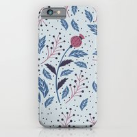 iPhone & iPod Case featuring Purple Thistle Buds by Paula McGloin