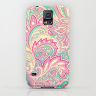 Pink Turquoise Girly Chi… Galaxy S5 Slim Case