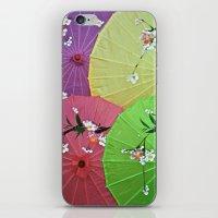 Paper Parasols iPhone & iPod Skin