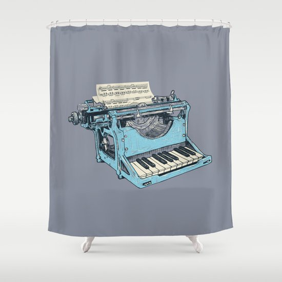The Composition. Shower Curtain