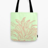 Palm Beach - Pink And Gr… Tote Bag