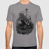 Land Of The Sleeping Gia… Mens Fitted Tee Tri-Grey SMALL