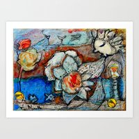TWO GOLD COINS Art Print