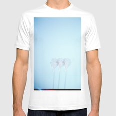 Triple Exposed Palm Trees SMALL Mens Fitted Tee White