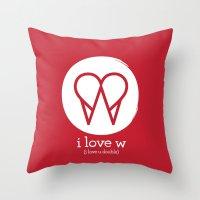 I Love W Throw Pillow