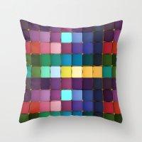 Colored Blocks Throw Pillow