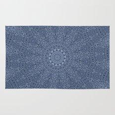 Coral Blue Rug