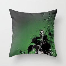 GREEN BASS Throw Pillow