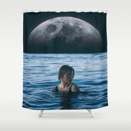 Shower Curtain - Moon River - Seamless