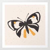Gungry Butterflies Art Print