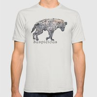 Suspicious Mens Fitted Tee Silver SMALL