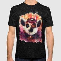 Lemur ( The Pimp Le-Mur ) Mens Fitted Tee Tri-Black SMALL