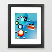 Atomic Music Framed Art Print