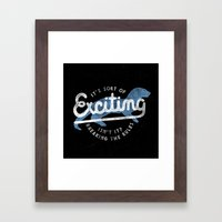 Exciting Framed Art Print