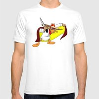 Darkwing Bonifacio Mens Fitted Tee White SMALL