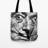 Dali's Eyes B&W Tote Bag