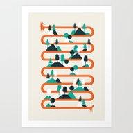 Art Print featuring Foxy Stripes by Robert Farkas