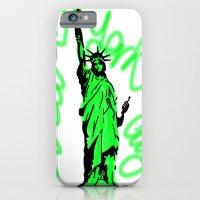 iPhone & iPod Case featuring New York City Neon Green by Lucrezia Semenzato