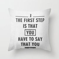 Will Smith quote - Motivational poster Throw Pillow