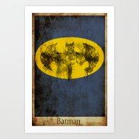 Bat Logo Art Print