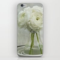 White On White Ranunculu… iPhone & iPod Skin