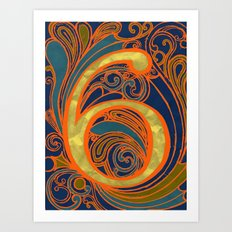 Nouveau Six Art Print