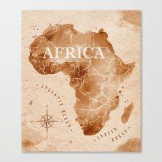 Vintage Africa Map  Canvas Print