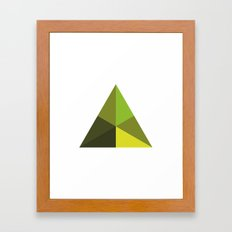 #126 Pyramid – Geometry Daily Framed Art Print