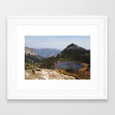 Rocky Mountain Lakes Framed Art Print