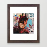 Caped Crusader by Famous When Dead Framed Art Print