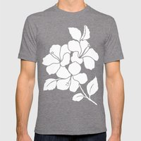 Hibiscus Animal Green Mens Fitted Tee Tri-Grey SMALL